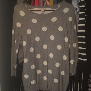 Banana polka dot sweater